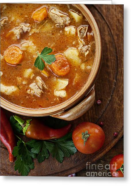 Veal Stew Greeting Card by Mythja  Photography
