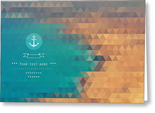 Vector Background Made Of Triangles Greeting Card by Lera Efremova