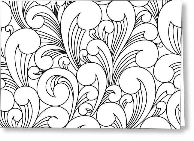 Vector Black And White Pattern With Greeting Card
