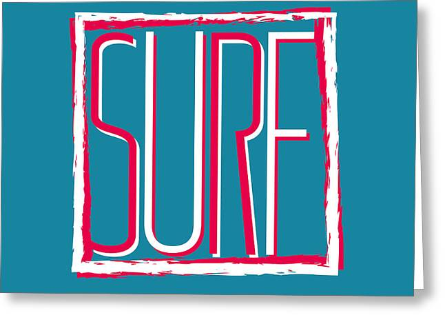 Vector Illustration Californian Surf Greeting Card