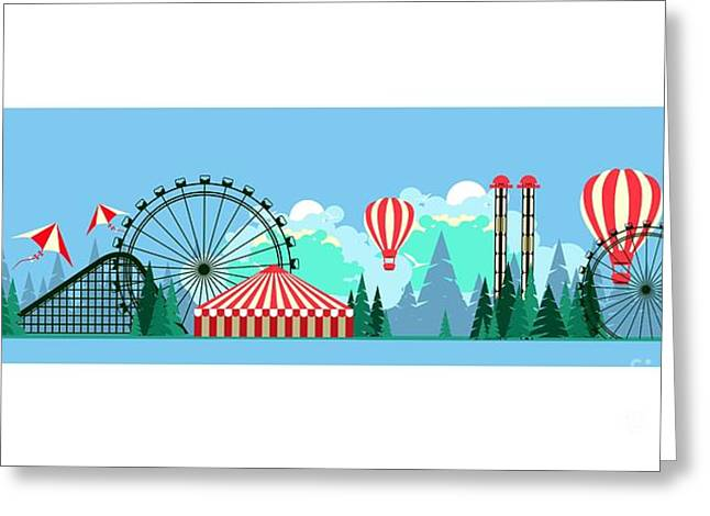 Vector Illustration Poster Amusement Greeting Card