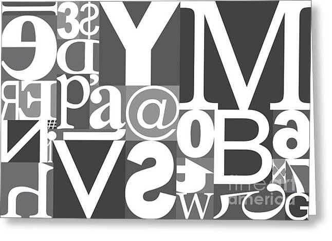 Vector Typography Blocks Greeting Card by Rob Pitman