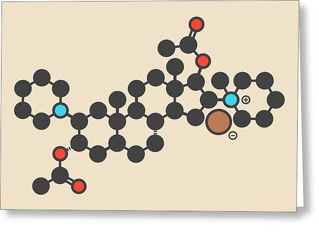 Vecuronium Bromide Molecule Greeting Card by Molekuul