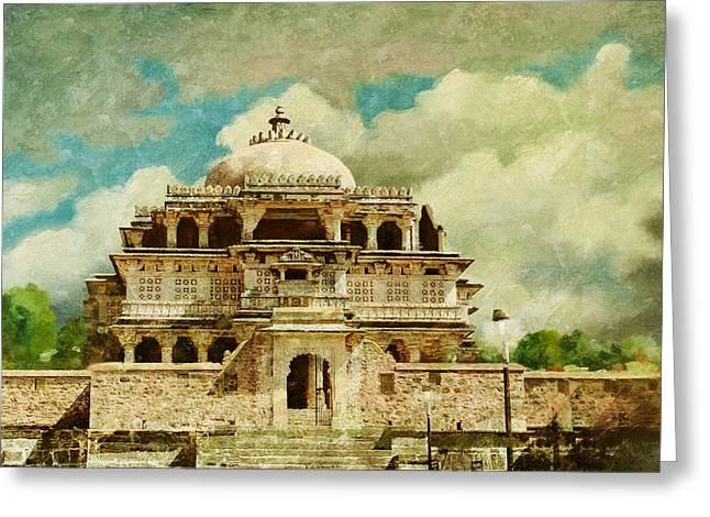 Vedi Temple In Kambalgarh Fort Greeting Card