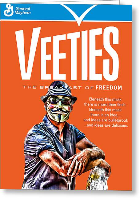 Veeties Breakfast Of Freedom Greeting Card