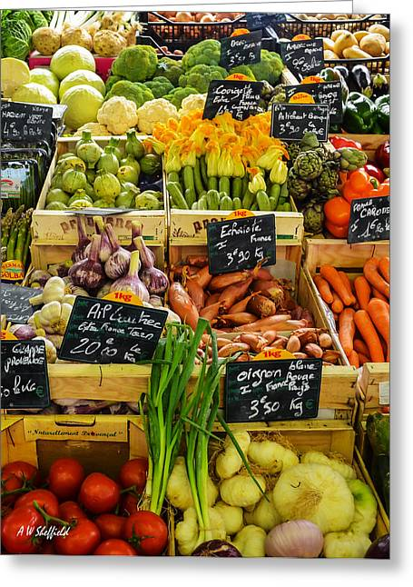 Veg At Marche Provencal Greeting Card