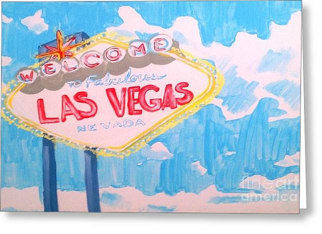Vegas Greeting Card