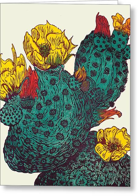 Vegas Neon Greeting Card by Maria Arango Diener
