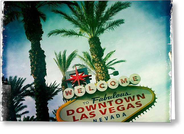 Vegas Greeting Card by Nina Prommer