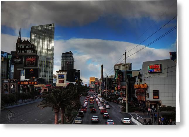 Vegas Strip 002  Greeting Card by Lance Vaughn