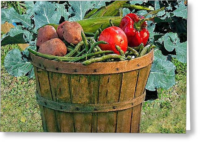 Vegetable Basket Greeting Card