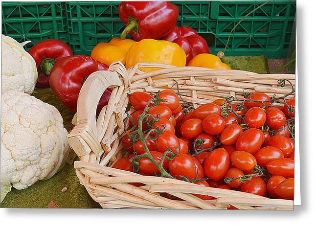 Vegetables - Number One Greeting Card by Felicia Tica