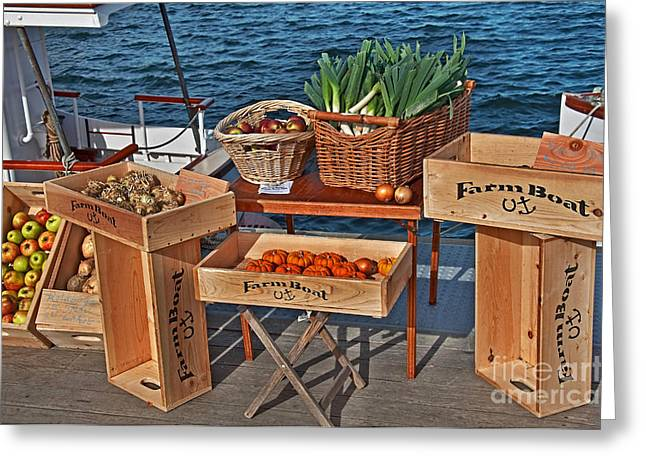 Greeting Card featuring the photograph Vegetables At Floating Farmer's Market by Valerie Garner