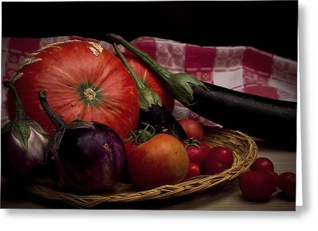 Vegetables Greeting Card by Riccardo Livorni