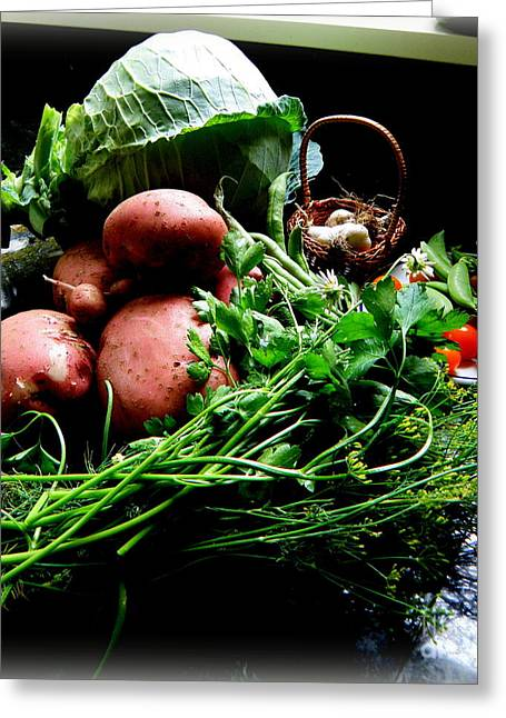Greeting Card featuring the photograph Vegetables. Still Life by Tanya  Searcy