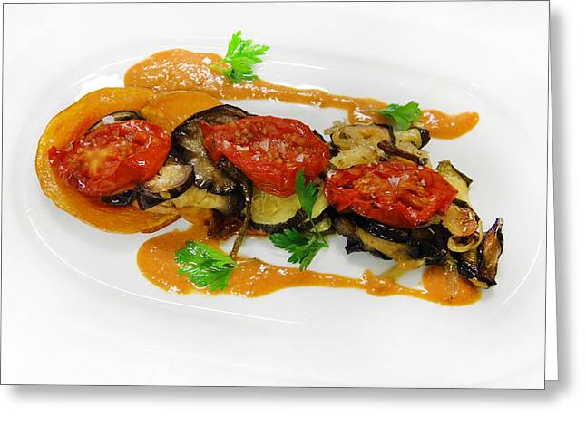 Vegetables With Sauce Greeting Card