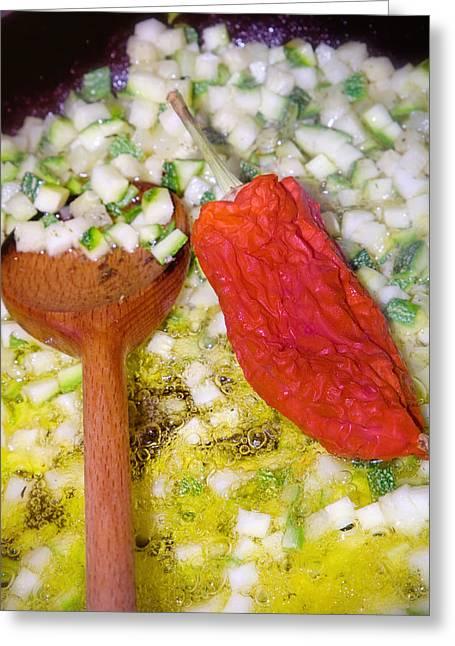 Vegetarian Meal  Greeting Card by Modern Art Prints