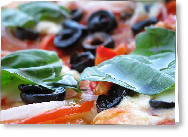 Vegetarian Pizza Greeting Card by Keith May