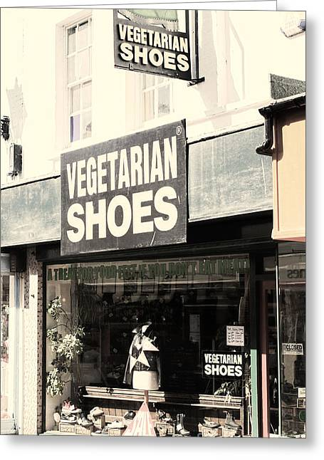 Vegetarian Shoes Greeting Card by Jasna Buncic