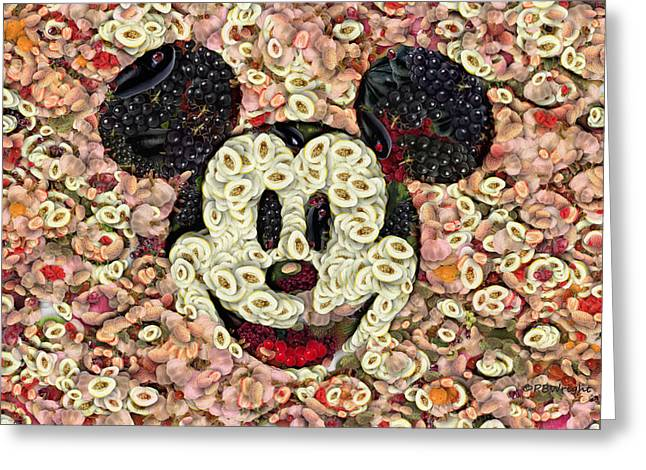 Veggie Mickey Mouse Greeting Card by Paulette B Wright