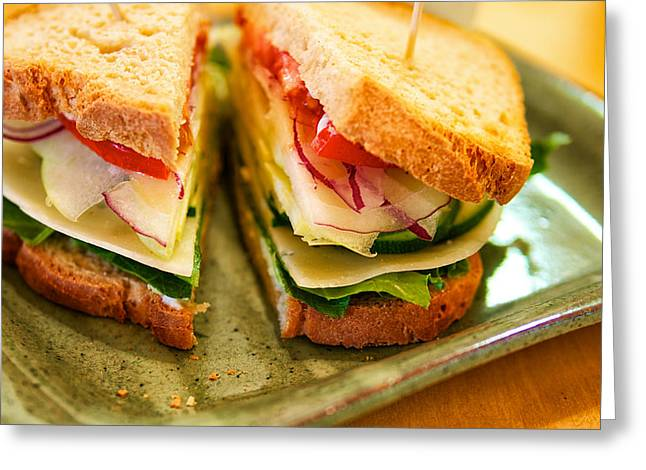 Veggie Sandwich Greeting Card