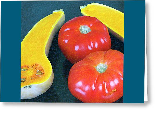 Veggies And Colors Greeting Card by Ben and Raisa Gertsberg