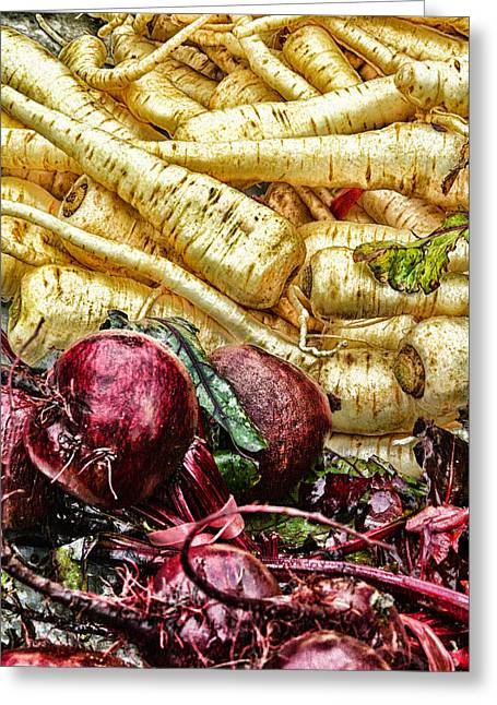 Vegies Greeting Card by Claire Hull