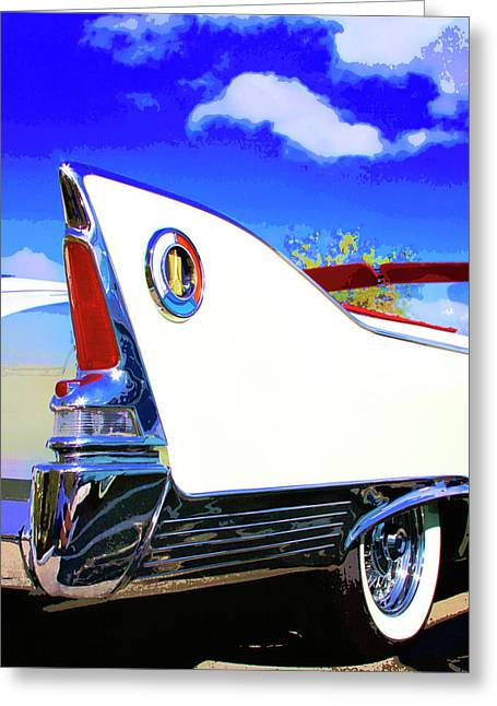 Vehicle Launch Palm Springs Greeting Card by William Dey