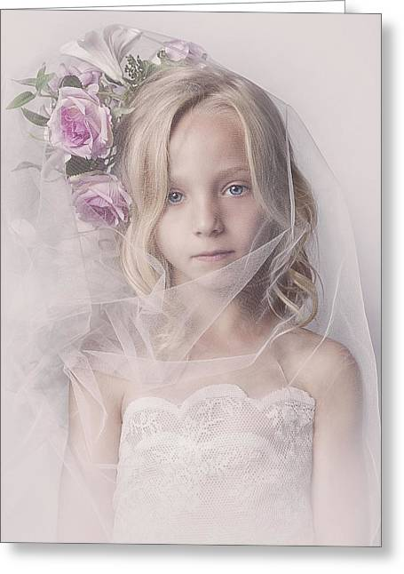 Veil Girl Greeting Card