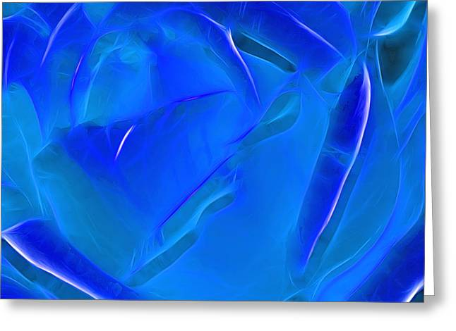 Veil Of Blue Greeting Card by Kaye Menner