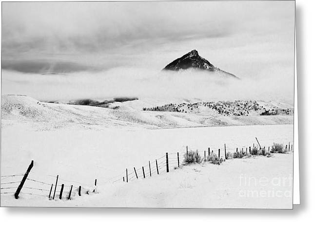 Veiled Winter Peak Greeting Card