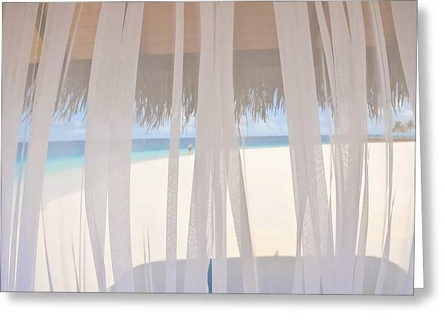 Veiled World. Maldives Greeting Card by Jenny Rainbow