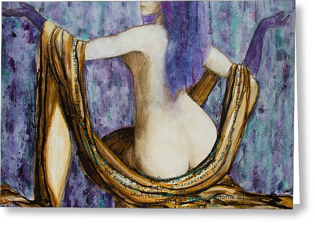 Veils To Clothe Venus With Greeting Card by Brenda Clews