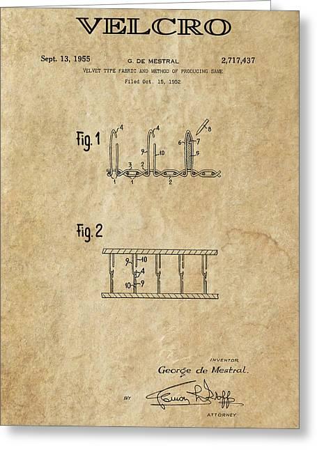 Velcro Patent Art  1955 Greeting Card