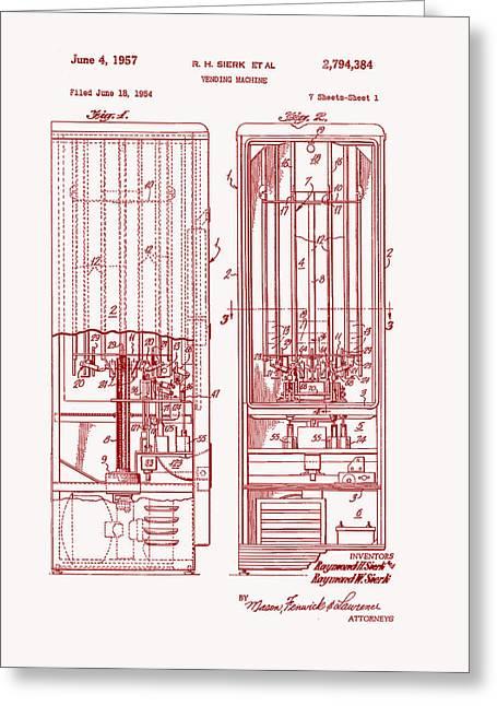 Vending Machine Patent 1957 Greeting Card