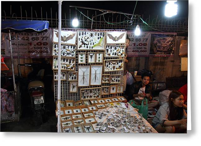 Vendors - Night Street Market - Chiang Mai Thailand - 011320 Greeting Card by DC Photographer