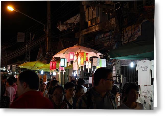 Vendors - Night Street Market - Chiang Mai Thailand - 011322 Greeting Card