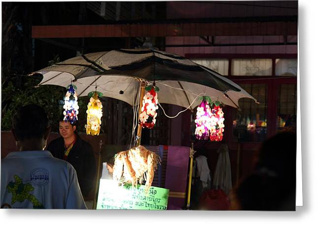 Vendors - Night Street Market - Chiang Mai Thailand - 011342 Greeting Card