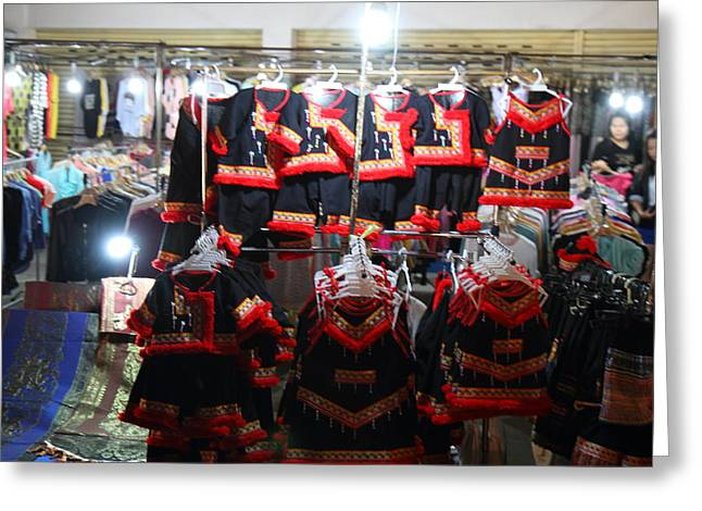 Vendors - Night Street Market - Chiang Mai Thailand - 01136 Greeting Card by DC Photographer