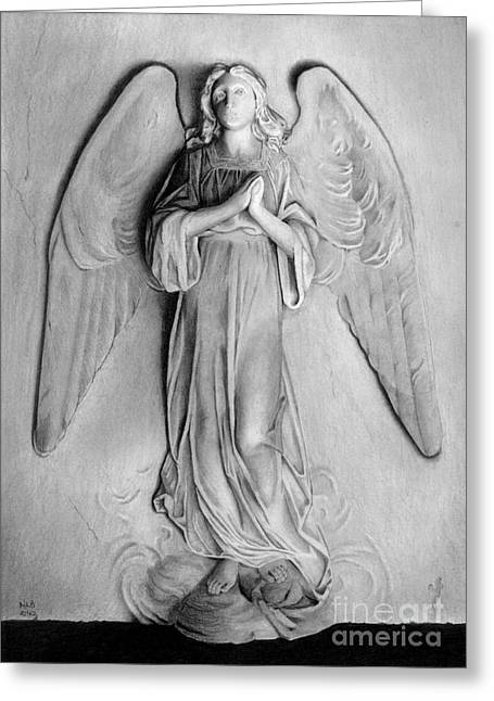 Venetian Angel Greeting Card by Nicola Butt
