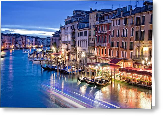 Venetian Blue Greeting Card by Delphimages Photo Creations