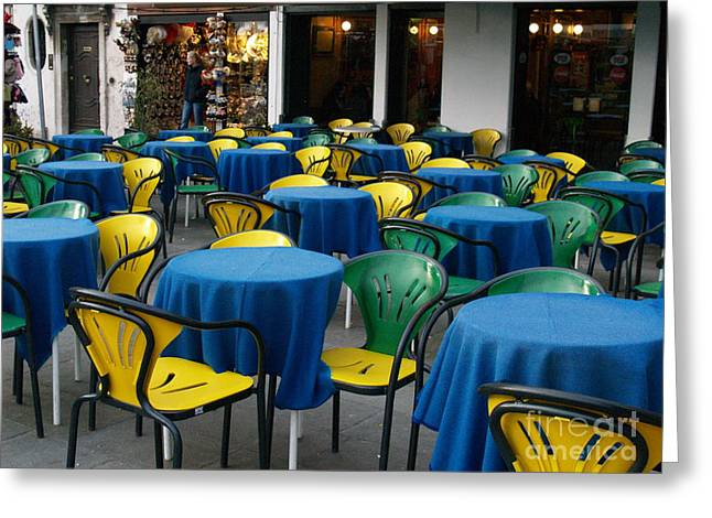 Greeting Card featuring the photograph Venetian Cafe by Robin Maria Pedrero