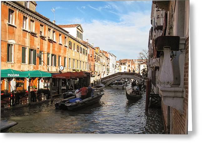 Greeting Card featuring the photograph Venetian Canal by Joe Winkler