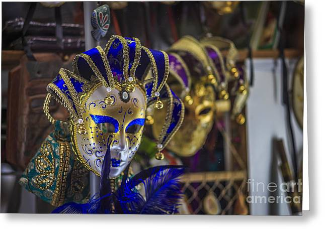 Venetian Carnival Masks Cadiz Spain Greeting Card