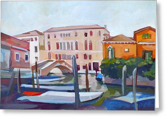 Venetian Cityscape Greeting Card by Filip Mihail