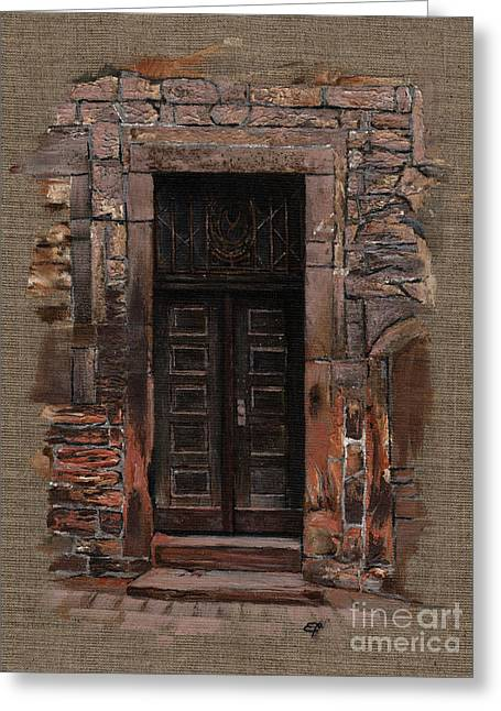 Venetian Door 02 Elena Yakubovich Greeting Card by Elena Yakubovich