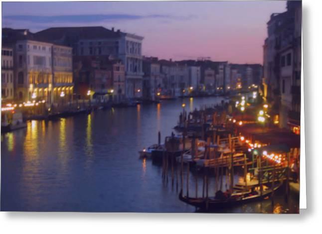 Venetian Evening Greeting Card by Betsy Moran