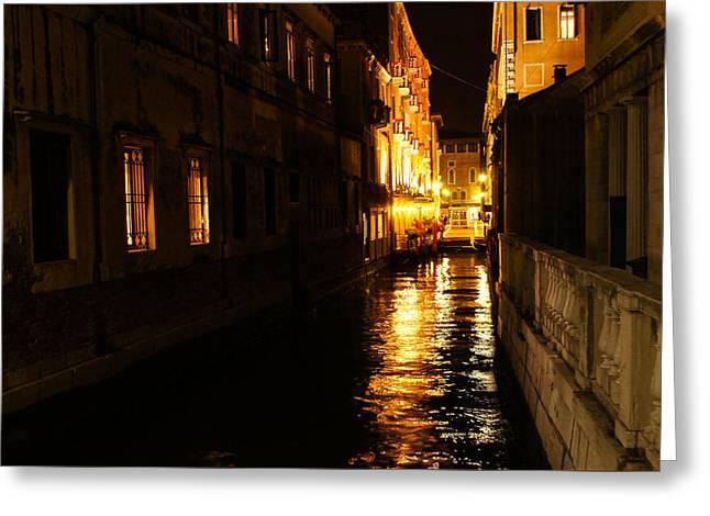 Venetian Golden Glow Greeting Card
