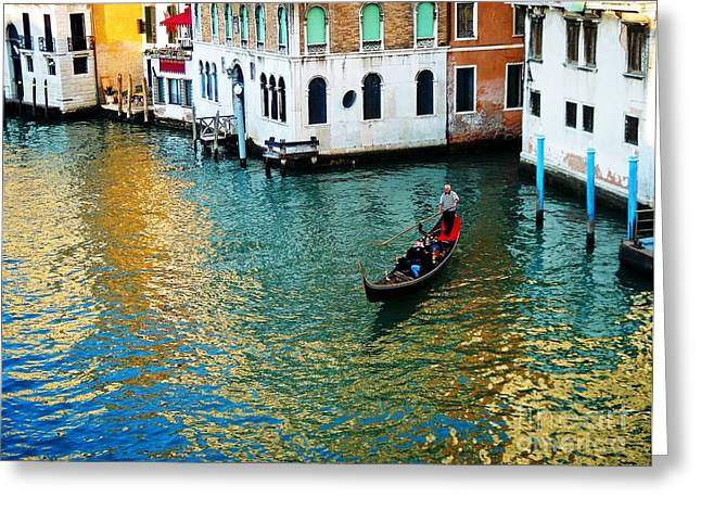 Venetian Gondola Greeting Card