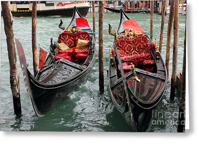 Venetian Gondolas Greeting Card by Kiril Stanchev